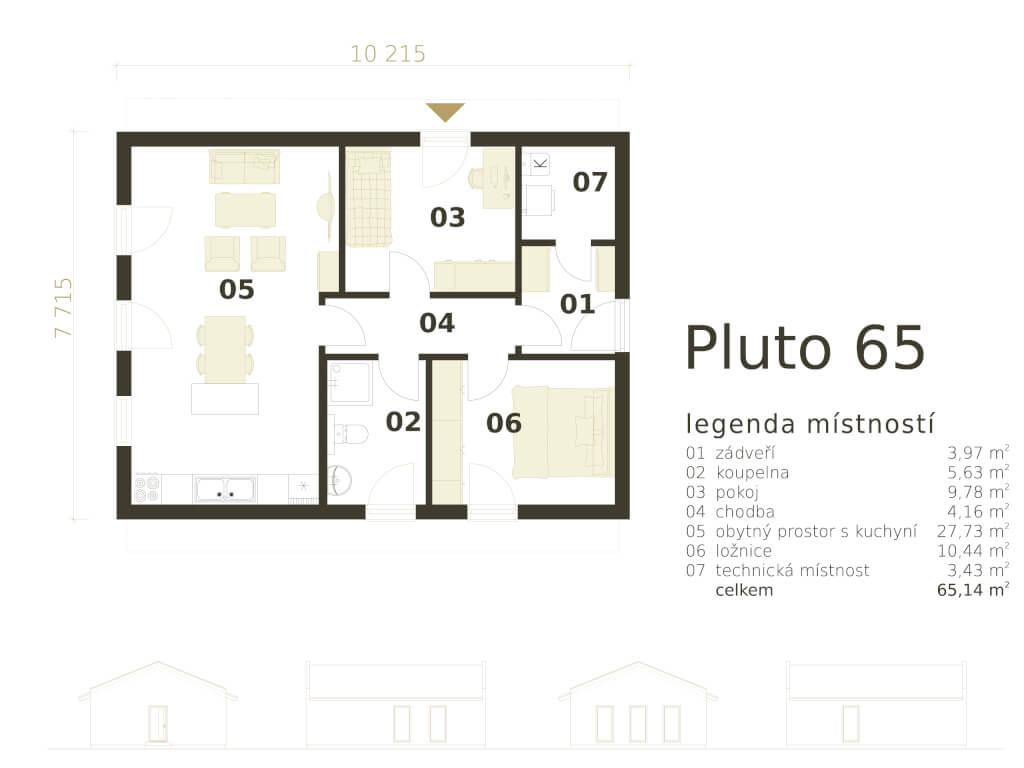 Bungalov Pluto 65 Atrium