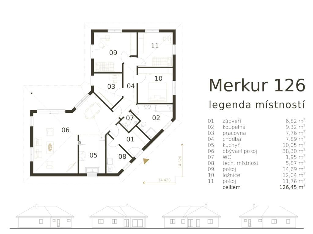 Bungalov Merkur 126 Atrium