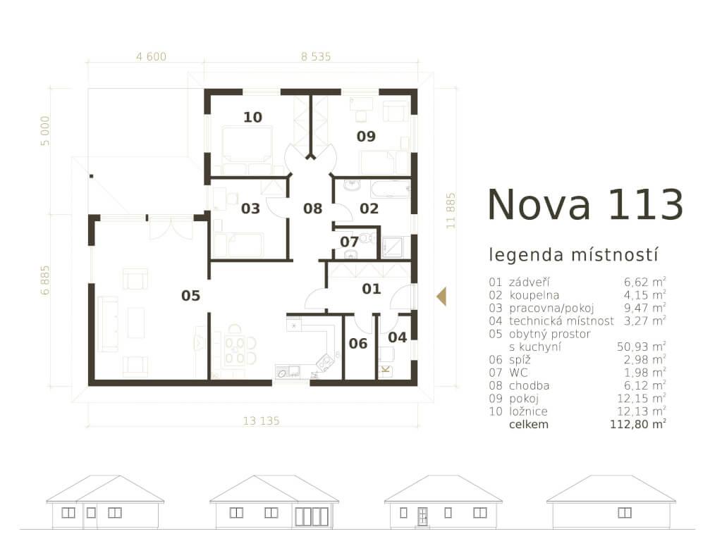 Bungalov Nova 113 Atrium