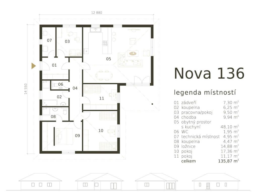 Bungalov Nova 136 Atrium