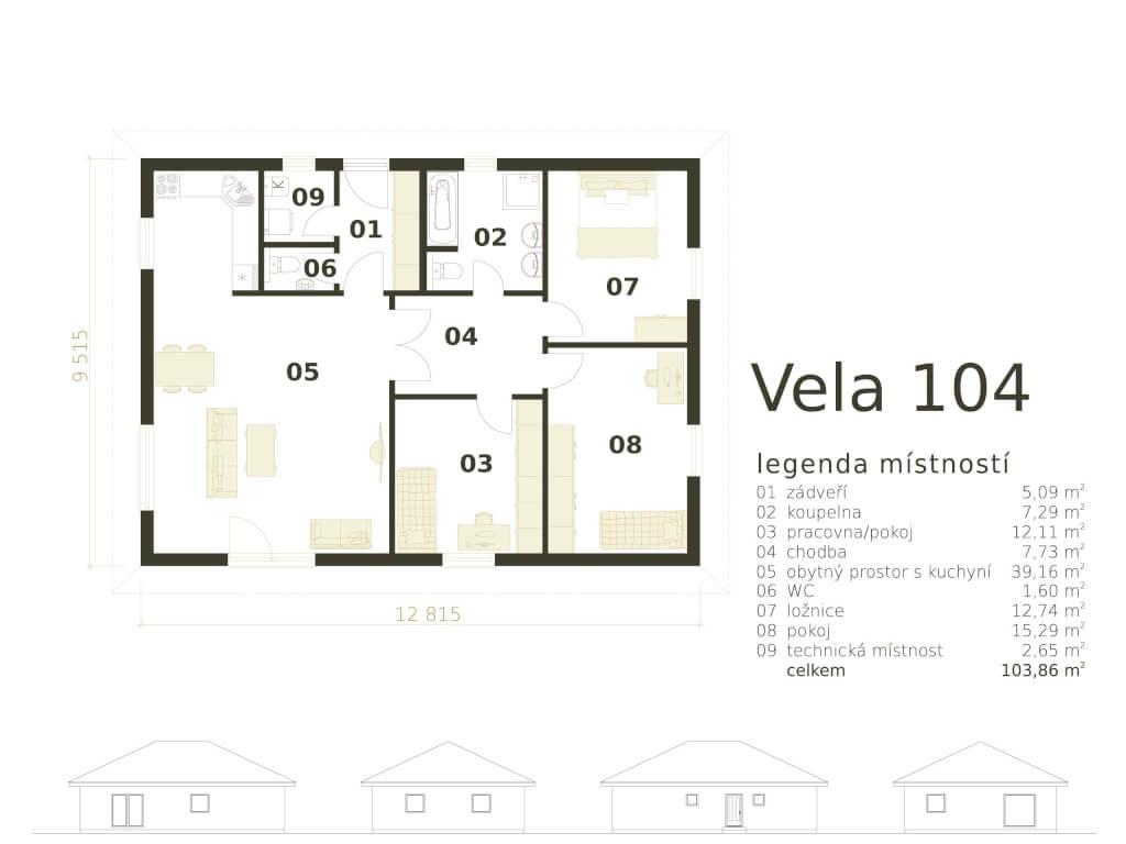 Bungalov Vela 104 Atrium