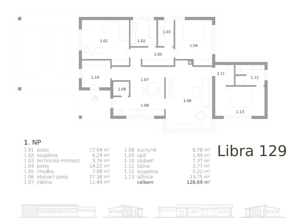 Bungalov Libra 129 Atrium