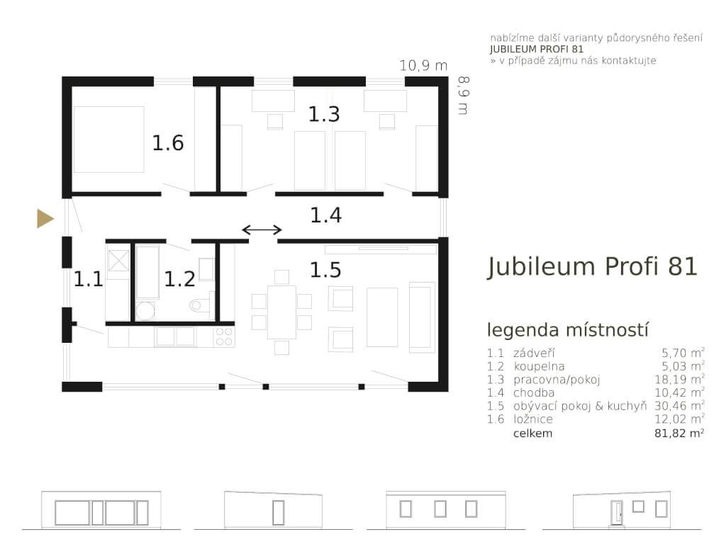 Bungalov Jubileum Profi 81 Atrium