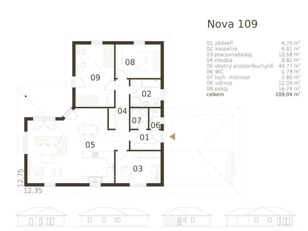 Bungalov Nova 109 Atrium