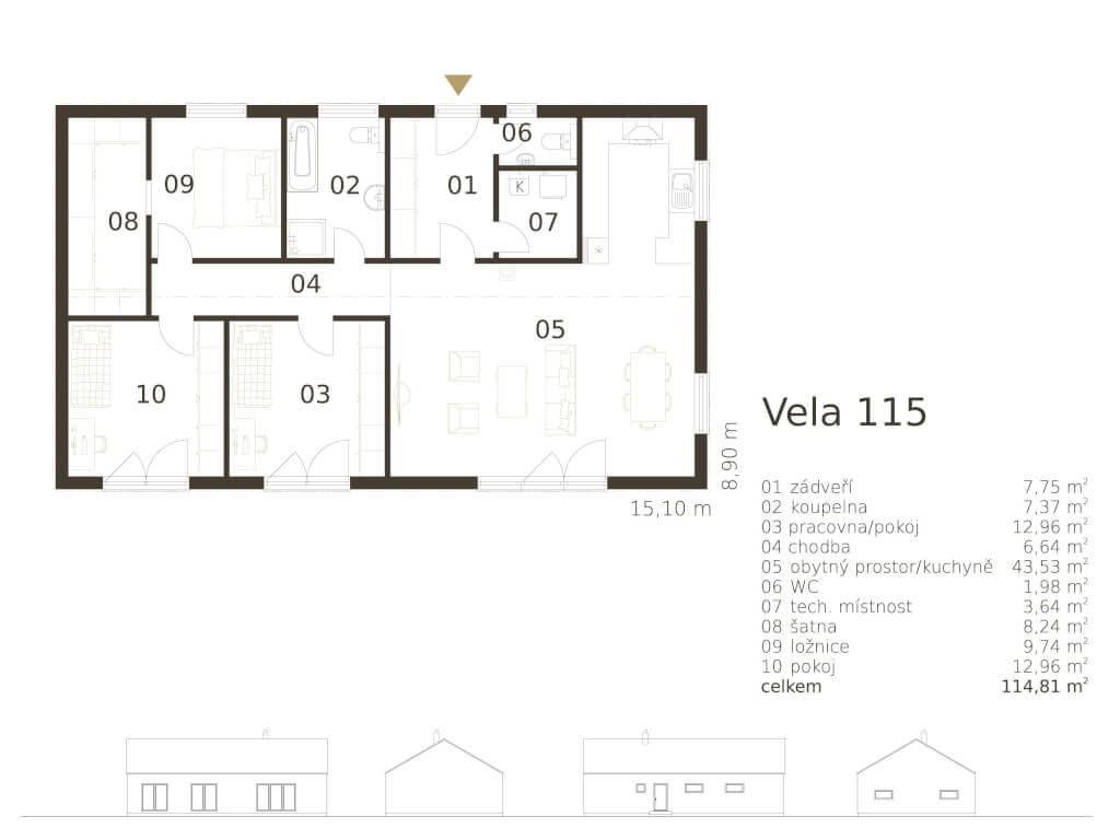 Bungalov Vela 115 Atrium